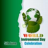 假日,世界环境日庆祝的背景 库存图片