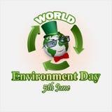 假日,设计,背景为世界环境日 免版税库存图片