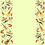 假日cinco de马约角bann的美好的织地不很细背景