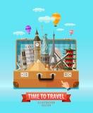 假期传染媒介商标设计模板 旅行 免版税库存照片