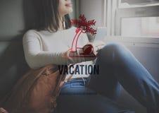 假期假日弛豫时间旅行概念 免版税库存图片