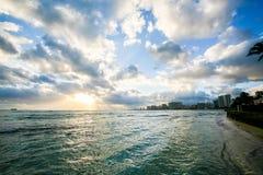 假期在一种热带手段在海洋附近 库存图片