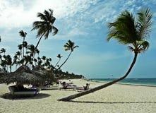 假期在加勒比海岸蓬塔Cana,多米尼加共和国 图库摄影