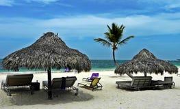 假期在加勒比海岸蓬塔Cana,多米尼加共和国 库存照片
