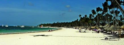 假期在加勒比海岸蓬塔Cana,多米尼加共和国 库存图片