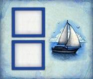 假期墙纸和框架 免版税库存照片