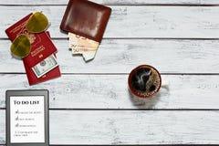 假期旅行计划想法 免版税图库摄影