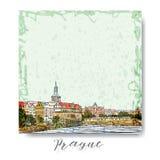 假期旅行邀请卡片或flayers手拉的系列与书法城市文字 图库摄影