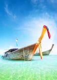 假期旅途夏天背景 小船泰国传统 免版税库存图片