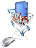 假期概念的互联网购物 免版税图库摄影