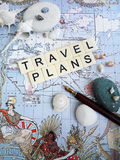 假期计划概念 免版税库存图片