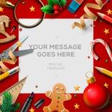 假期,圣诞节断裂海报 向量例证