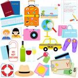 假期-旅行向量图标 免版税库存照片