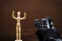假的射击 图库摄影