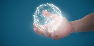 假装人的手的综合图象拿着一个无形的对象 免版税库存照片