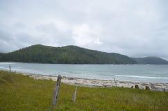 假装海湾--海角斯科特省公园 库存图片