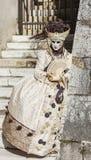 假装的人-阿讷西威尼斯式狂欢节2014年 库存照片