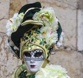 假装的人-阿讷西威尼斯式狂欢节2013年 库存照片