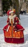 假装的人-阿讷西威尼斯式狂欢节2013年 免版税库存图片