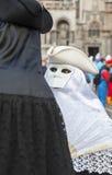 假装的夫妇-威尼斯狂欢节2014年 免版税图库摄影