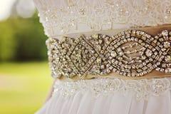 假钻石或金刚石散布的珠饰细工 库存照片