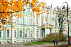 偏僻寺院宫殿彼得斯堡俄国st冬天 库存照片