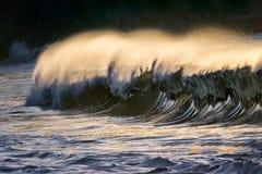 偏僻波浪打破 免版税图库摄影