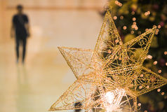 偏僻的圣诞节 免版税库存照片