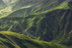 偏僻的小屋在奥地利阿尔卑斯 免版税库存图片