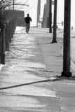 偏僻的慢跑者 库存照片
