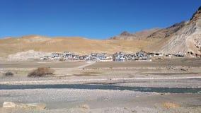 偏僻的村庄 库存照片