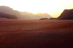 偏僻的沙漠 库存图片