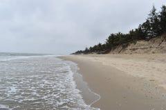 偏僻的海滩在会安市在越南,亚洲 库存照片