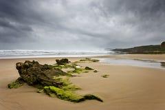 偏僻的海滩 免版税库存照片