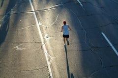 偏僻的赛跑者 库存图片