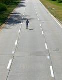 偏僻的赛跑者 免版税库存照片