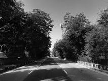 偏僻的路 免版税库存照片