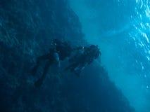 偏差海洋表面technodivers二下 免版税图库摄影