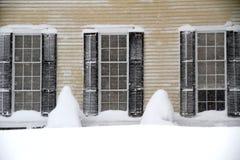 偏差雪视窗 免版税库存图片