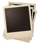 偏正片减速火箭的照片框架堆 库存照片