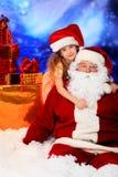 偏爱的圣诞老人 库存图片