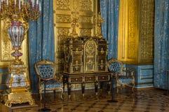 偏僻寺院、博物馆艺术和文化圣彼德堡,俄罗斯内部在圣彼得堡 免版税库存照片