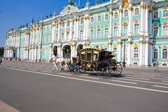 偏僻寺院在圣彼得堡 免版税库存图片