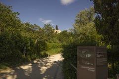 偏僻寺院在Arlesheim (巴塞尔) 库存图片