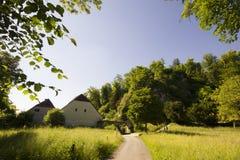 偏僻寺院在Arlesheim (巴塞尔) 库存照片