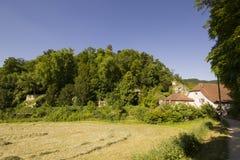 偏僻寺院在Arlesheim (巴塞尔) 免版税库存照片