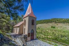 偏僻寺院在Las Menas被放弃的minning的镇  免版税库存图片