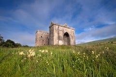 偏僻寺院城堡,苏格兰边区 库存图片