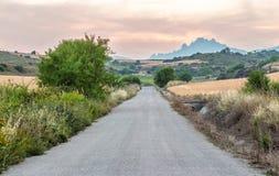 偏僻的乡下公路 免版税库存图片