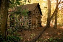 偏僻的原木小屋 免版税库存照片
